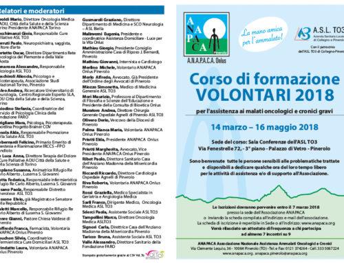 Corso di fomazione volontari e cittadini 2018